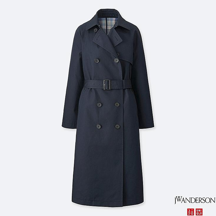 WOMEN REVERSIBLE TRENCH COAT (JW Anderson), NAVY, large