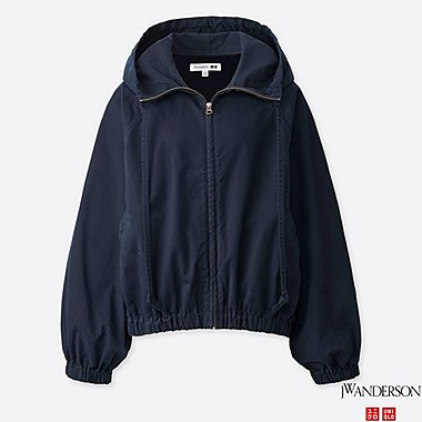 WOMEN DOLMAN SLEEVE PARKA (JW Anderson), NAVY, medium