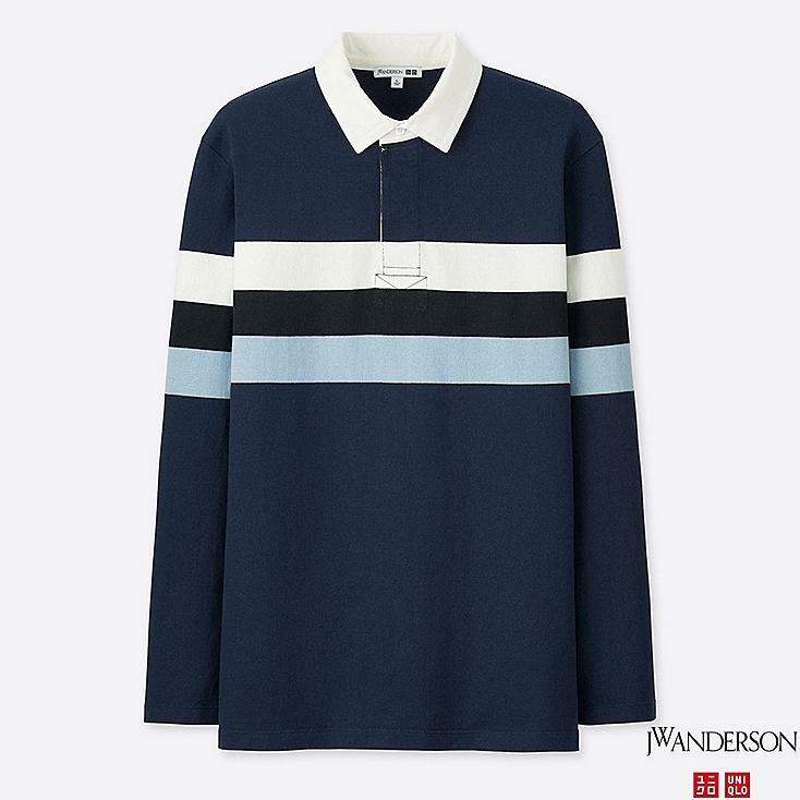 MEN LONG-SLEEVE RUGGER SHIRT (JW Anderson), NAVY, large