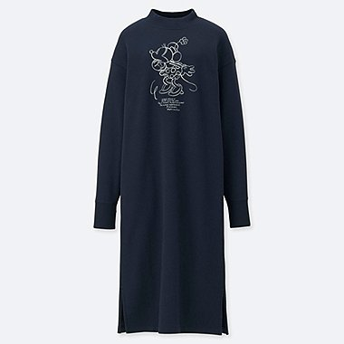 WOMEN CELEBRATE MICKEY SWEAT DRESS, NAVY, medium