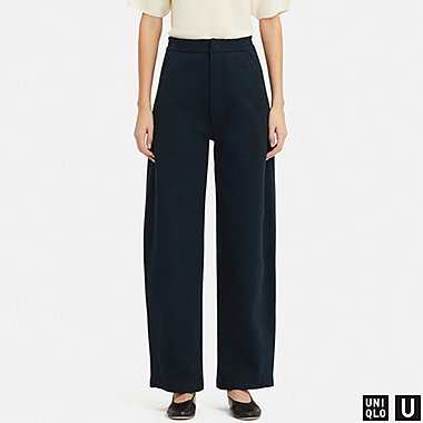 WOMEN UNIQLO U COTTON DOUBLE FACED TROUSERS