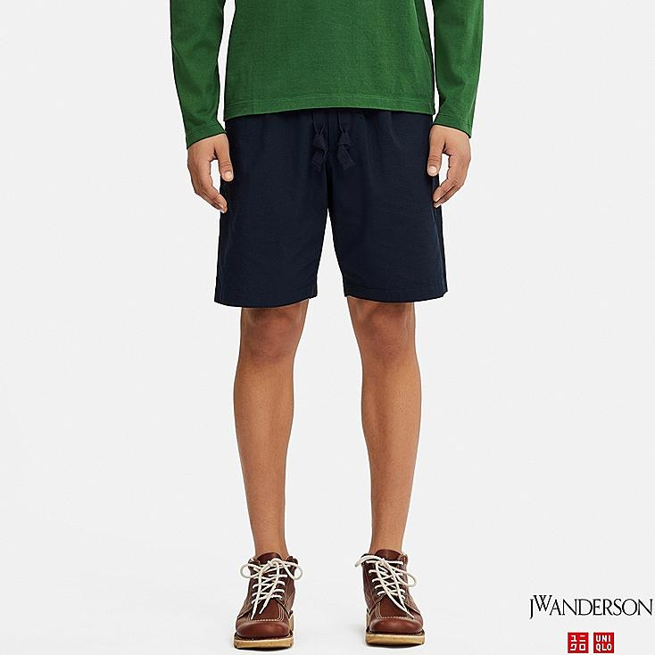 MEN RELAXED DRAWSTRING SHORTS (JW Anderson), NAVY, large