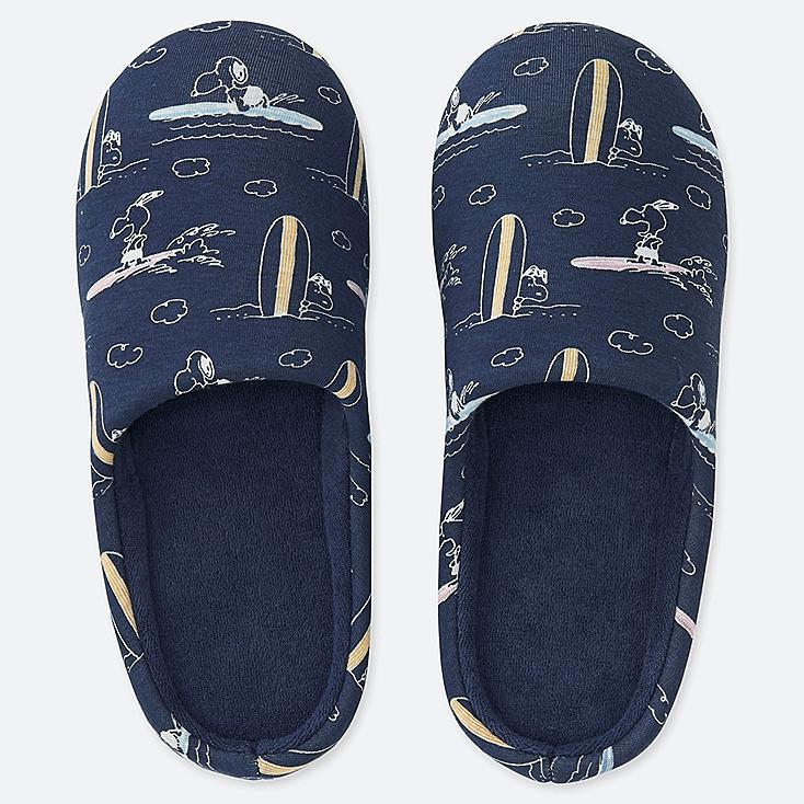 PEANUTS SLIPPERS, NAVY, large