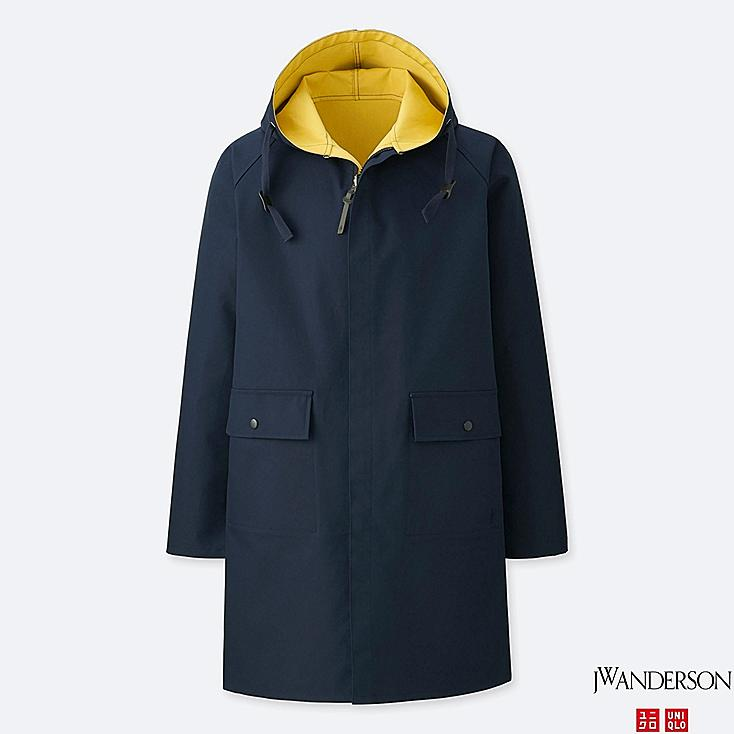 MEN REVERSIBLE HOODED COAT (JW Anderson), NAVY, large