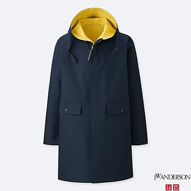 MEN REVERSIBLE HOODED COAT (JW Anderson), NAVY, medium