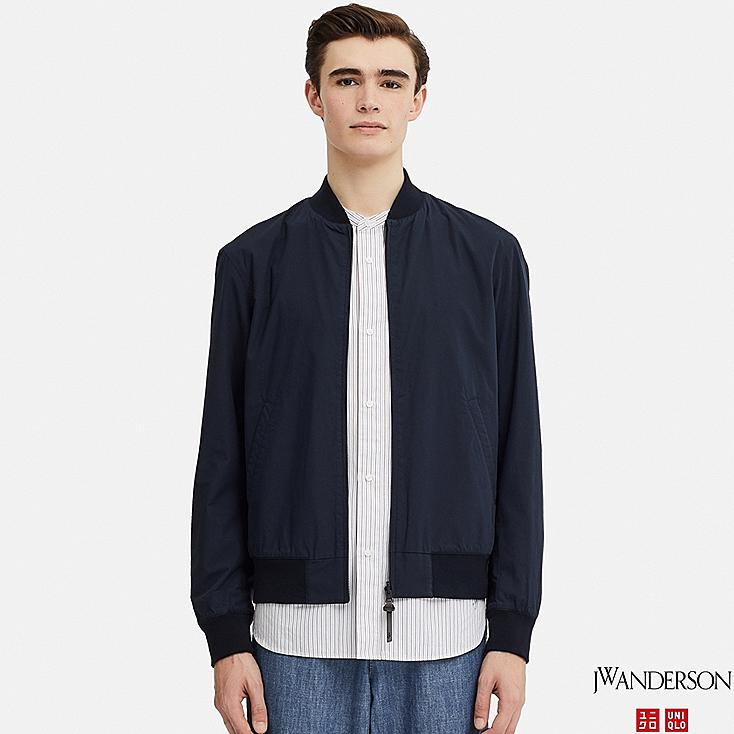 MEN REVERSIBLE RIBBED BLOUSON (JW Anderson), NAVY, large