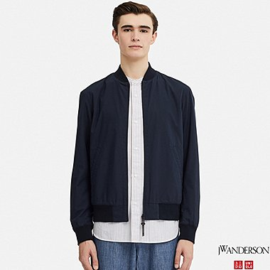 MEN REVERSIBLE RIBBED BLOUSON (JW Anderson), NAVY, medium