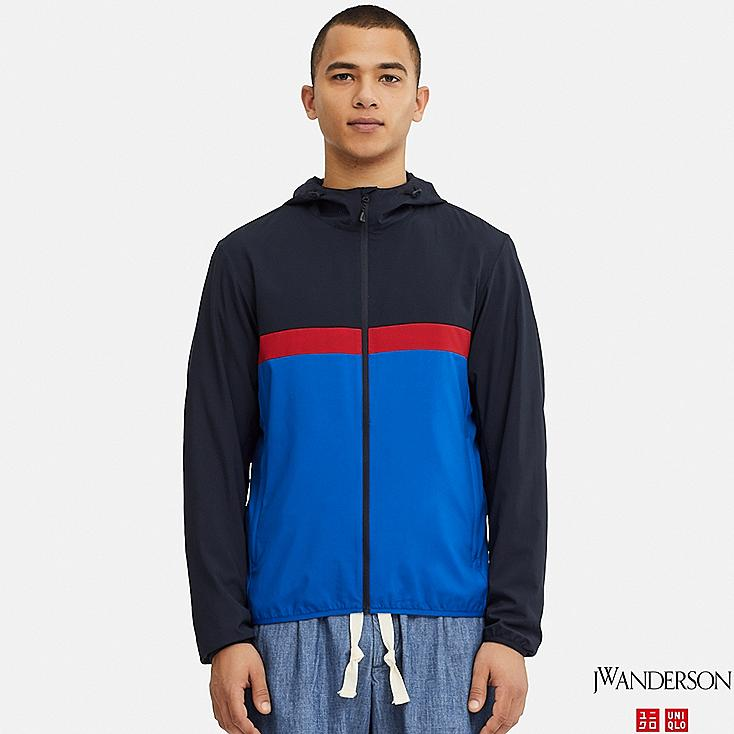 MEN POCKETABLE PARKA (JW Anderson), NAVY, large