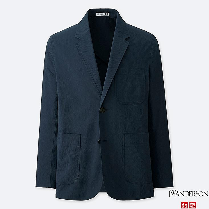 MEN JW ANDERSON SEERSUCKER TAILORED JACKET