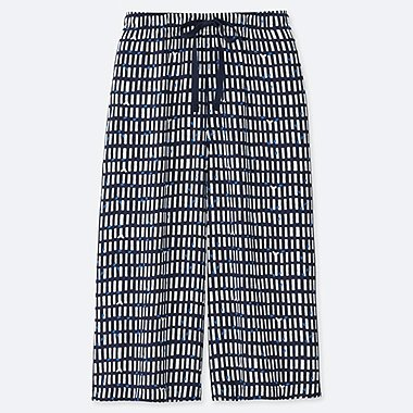 WOMEN MICKEY BLUE RELACO THREE QUARTER LENGTH CHECKED SHORTS
