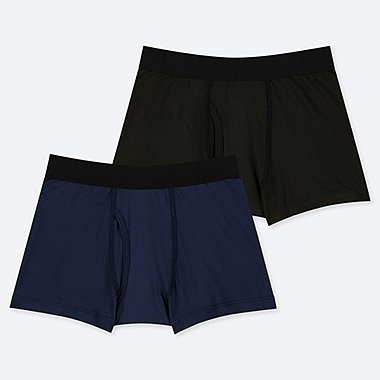 BOYS AIRism BOXER BRIEFS (SET OF 2), NAVY, medium