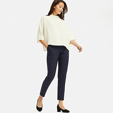 WOMEN EZY ANKLE PANTS, NAVY, medium