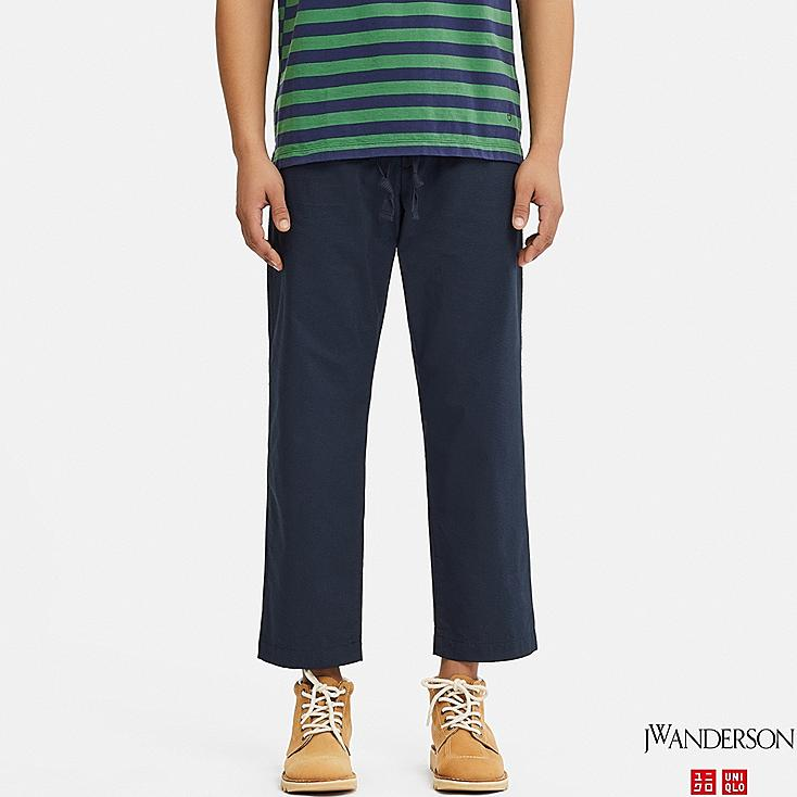 MEN RELAXED DRAWSTRING PANTS (JW Anderson), NAVY, large