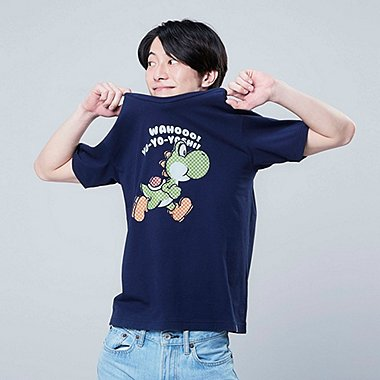 SUPER MARIO UT (SHORT-SLEEVE GRAPHIC T-SHIRT), NAVY, medium