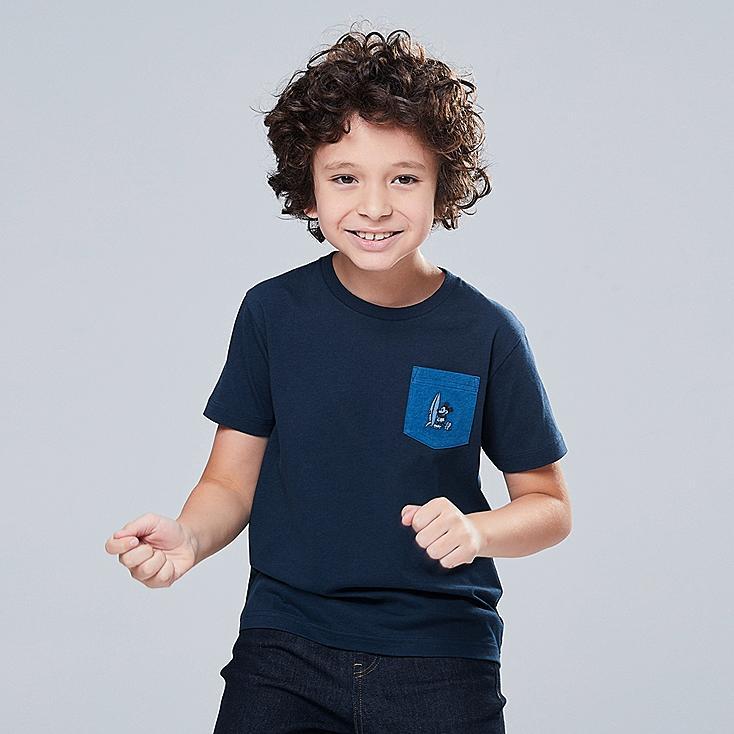 KIDS MICKEY BLUE UT (SHORT-SLEEVE GRAPHIC T-SHIRT), NAVY, large