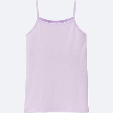 GIRLS AIRism CAMISOLE(DUAL-LAYER), LIGHT PURPLE, medium