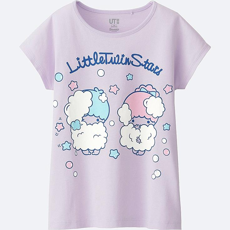GIRLS SANRIO SHORT SLEEVE GRAPHIC T-SHIRT, LIGHT PURPLE, large