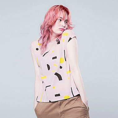 WOMEN SUPER GEOMETRIC DUSEN DUSEN GRAPHIC PRINT T-SHIRT