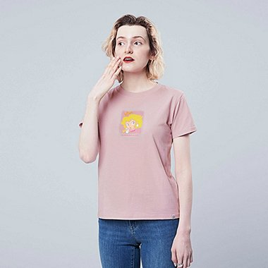 WOMEN SUPER MARIO UT (SHORT-SLEEVE GRAPHIC T-SHIRT), LIGHT PURPLE, medium