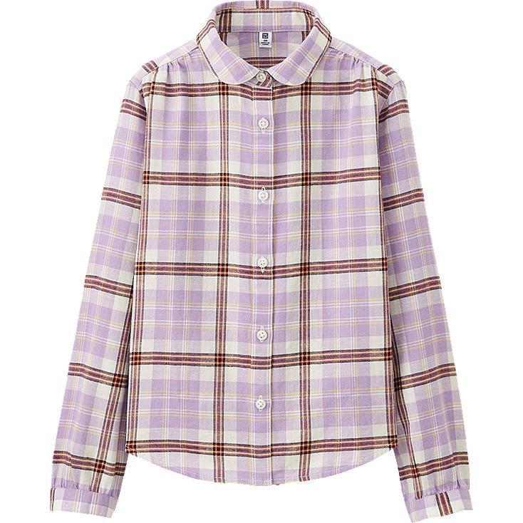 GIRLS Flannel Long Sleeve Shirts