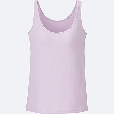 WOMEN AIRism BRA SLEEVELESS TOP, PURPLE, medium