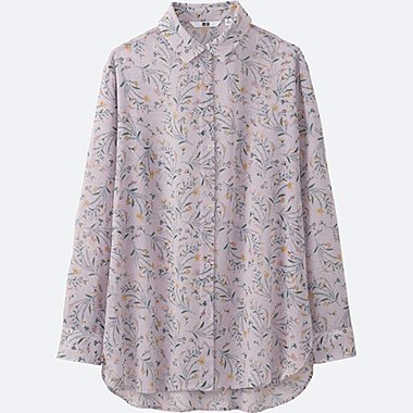 WOMEN Chiffon Printed Long Sleeve Blouse