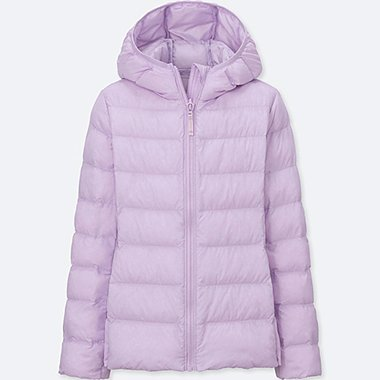 GIRLS LIGHT WARM PADDED PARKA, PURPLE, medium