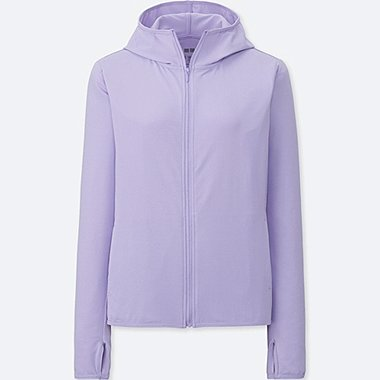 WOMEN AIRism UV CUT LONG SLEEVE MESH HOODIE