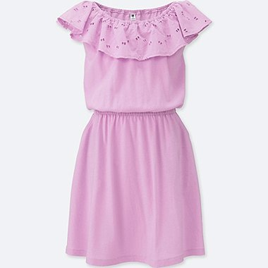 GIRLS FRILL LACE SLEEVELESS DRESS