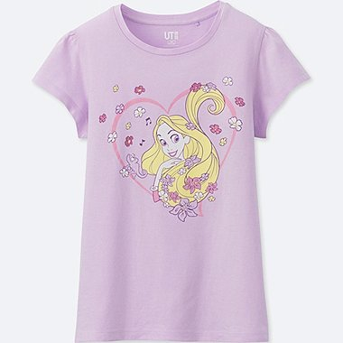GIRLS SOUNDS OF DISNEY GRAPHIC T-SHIRT, PURPLE, medium