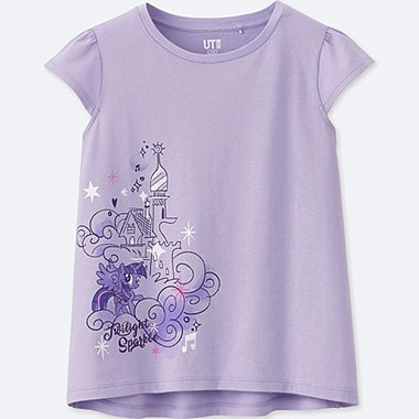 GIRLS MY LITTLE PONY GRAPHIC T-SHIRT, PURPLE, medium