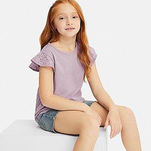 GIRLS LACE FRILL CREWNECK SHORT-SLEEVE T-SHIRT/us/en/girls-lace-frill-crew-neck-short-sleeve-t-shirt-414185.html