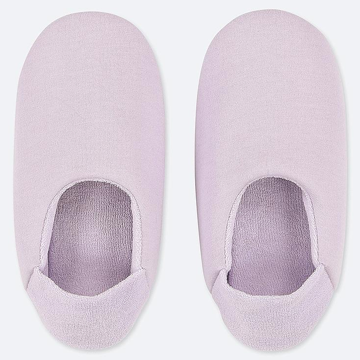 WOMEN FRENCH TERRY SLIPPERS, PURPLE, large