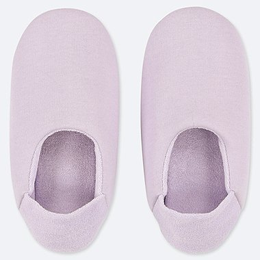 WOMEN FRENCH TERRY SLIPPERS, PURPLE, medium