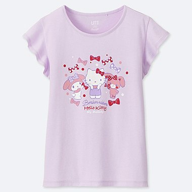 GIRLS SANRIO CHARACTERS UT (SHORT-SLEEVE GRAPHIC T-SHIRT), PURPLE, medium