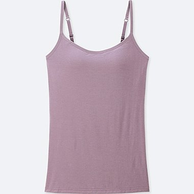 WOMEN HEATTECH BRA CAMISOLE, PURPLE, medium