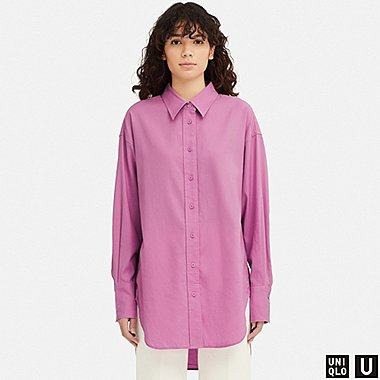WOMEN UNIQLO U OVERSIZED LONG SLEEVED SHIRT