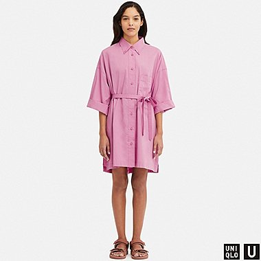 WOMEN U BEACH COVER UP LONG-SLEEVE DRESS, PURPLE, medium