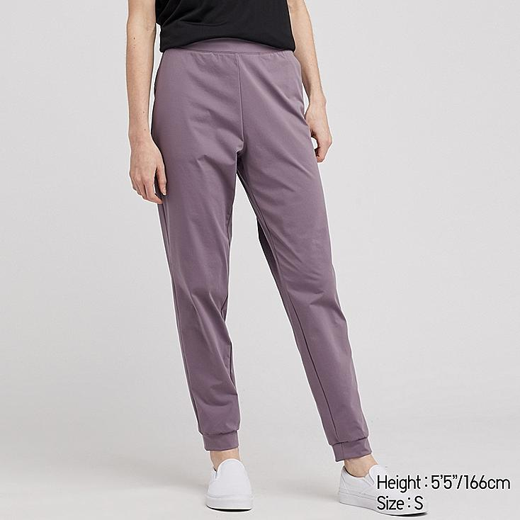 WOMEN ULTRA STRETCH ACTIVE ANKLE-LENGTH PANTS, PURPLE, large