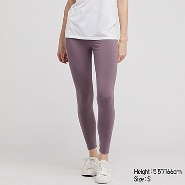 WOMEN AIRism SOFT LEGGINGS, PURPLE, medium