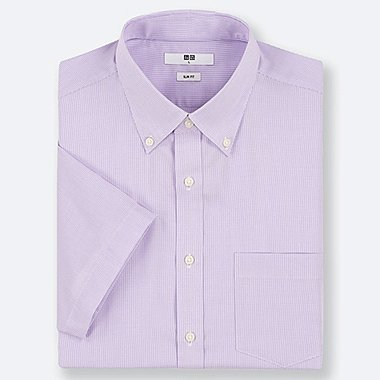 MEN DRY EASY CARE SLIM-FIT SHORT-SLEEVE SHIRT (ONLINE EXCLUSIVE), PURPLE, medium