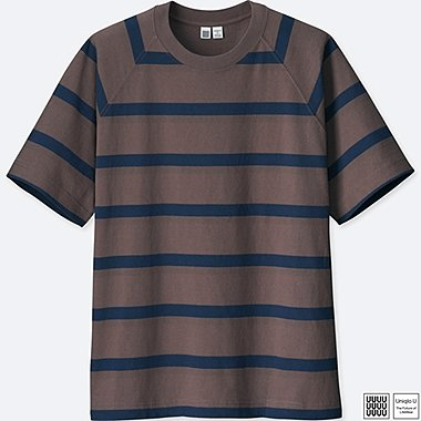 MEN U STRIPED SHORT-SLEEVE T-SHIRT, PURPLE, medium