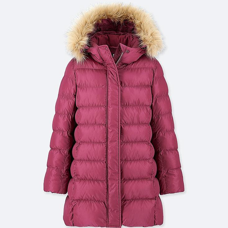 GIRLS WARM PADDED COAT, PURPLE, large