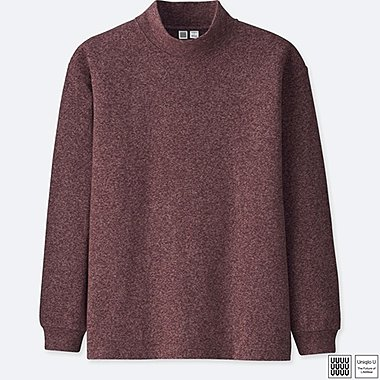 MEN UNIQLO U RELAXED FIT MOCK NECK LONG SLEEVED T-SHIRT