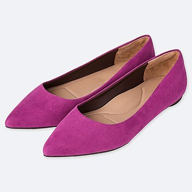 WOMEN POINTED FLAT SHOES, PURPLE, medium