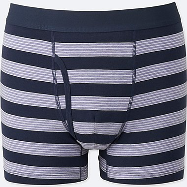 MEN SUPIMA® COTTON STRIPED BOXER BRIEFS, PURPLE, medium