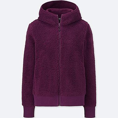 WOMEN BLOCKTECH FLEECE PILE LINED HOODIE