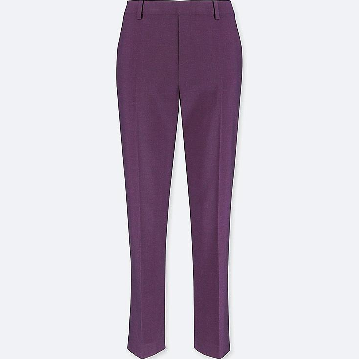 WOMEN SMART STYLE ANKLE-LENGTH PANTS, PURPLE, large