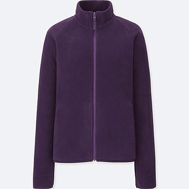 WOMEN FLEECE LONG-SLEEVE FULL-ZIP JACKET (ONLINE EXCLUSIVE), PURPLE, medium