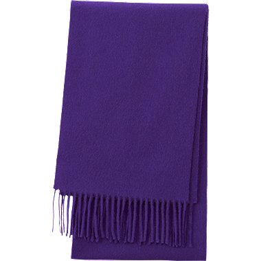 CASHMERE SCARF, PURPLE, medium